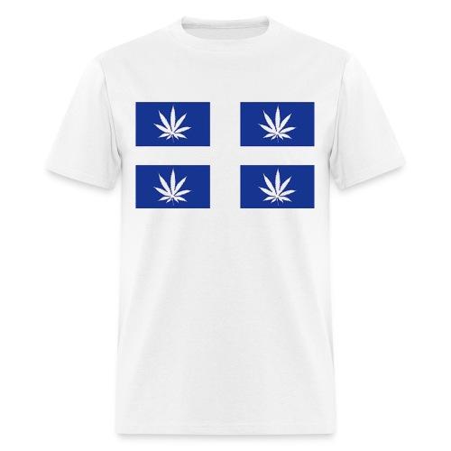 Drapeau du Québec en feuilles de pot - Men's T-Shirt
