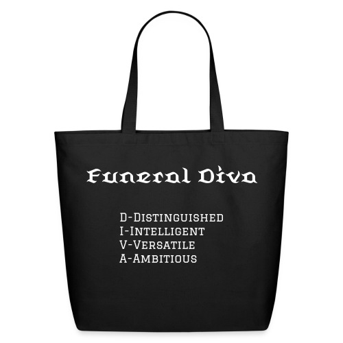 Funeral Diva Meaning Tote - Eco-Friendly Cotton Tote