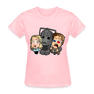 Chibi Doctor Who - Cyberman Shirt (Female) - Women's T-Shirt