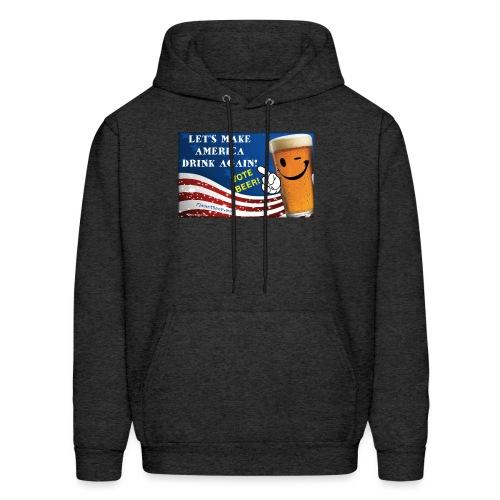 Let's Make America Drink Again! Men's Hoodie - Men's Hoodie