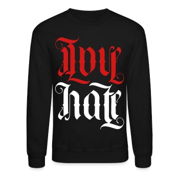 Love + hate 'Ambigram' - Crewneck Sweatshirt