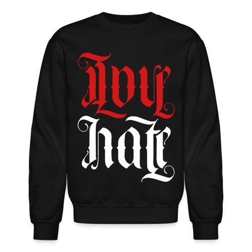 Love + hate 'Ambigram' - Crewneck Sweatshirt