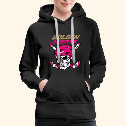 Golden Misfits Pink - Women's Premium Hoodie