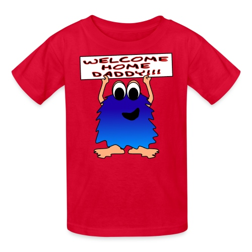 Welcome Home Daddy Monster SS Tee - Kids' T-Shirt