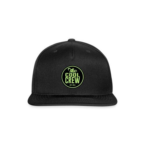Circle of Cool Black & Light Green logo Snapback Baseball Cap - Snap-back Baseball Cap