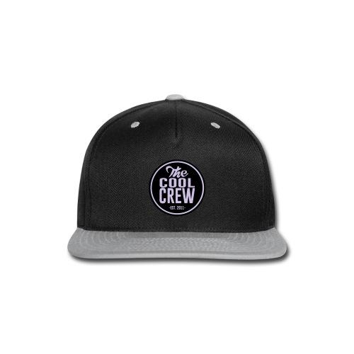 Circle of Cool Black & Lavender logo Snapback Baseball Cap - Snap-back Baseball Cap