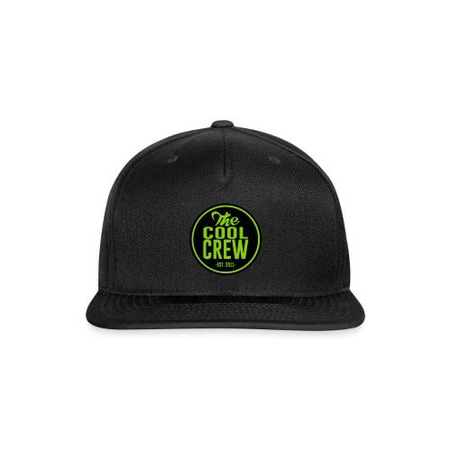 Circle of Cool Black & Apple Green logo Snapback Baseball Cap - Snap-back Baseball Cap