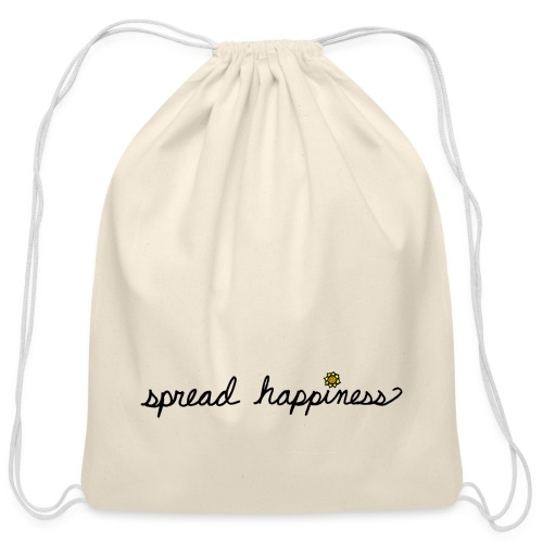 Spread Happiness - Cotton Drawstring Bag