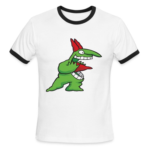 Just For Laughs Men's Ringer T Victor Screaming - Men's Ringer T-Shirt