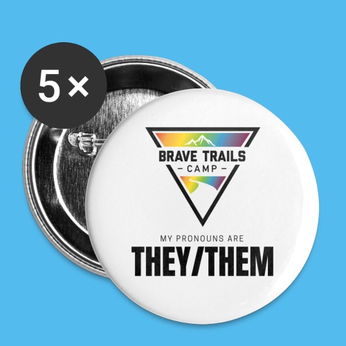Pronoun Pins - They/Them - Small Buttons
