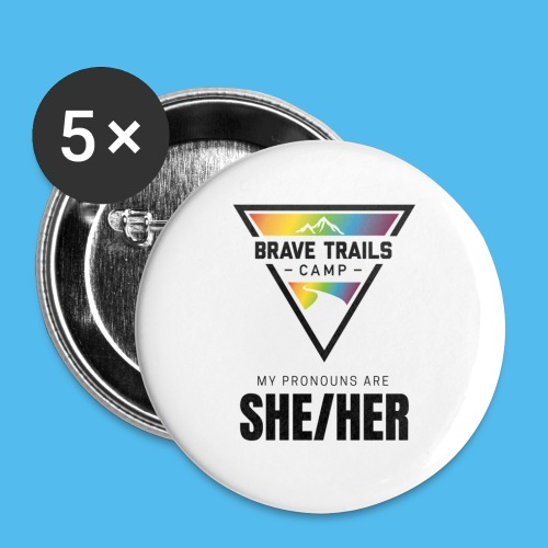 Pronoun Pins - She/Her - Small Buttons