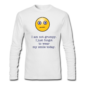 I am not grumpy. I just forgot to wear my smile today. - Men's Long Sleeve T-Shirt by Next Level