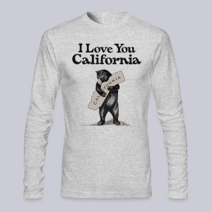 I Love You CA - Men's Long Sleeve T-Shirt by Next Level