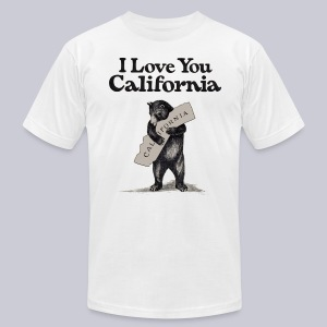 I Love You CA - Men's T-Shirt by American Apparel