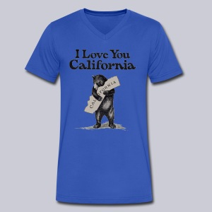 I Love You CA - Men's V-Neck T-Shirt by Canvas