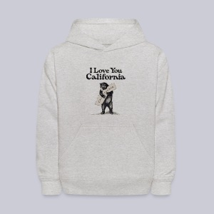 I Love You CA - Kids' Hoodie