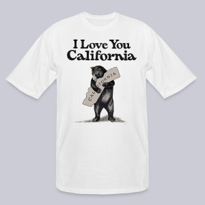 I Love You CA - Men's Tall T-Shirt