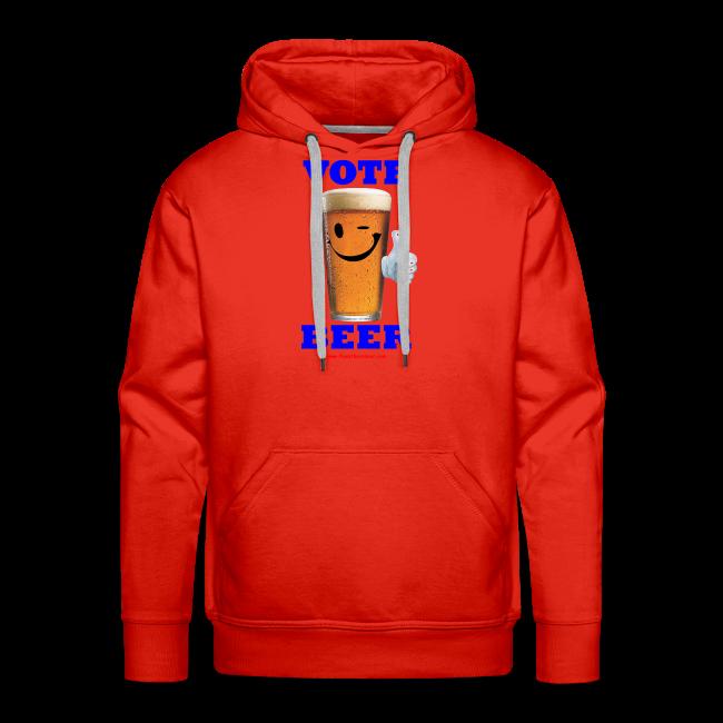 Vote Beer Men's Premium Hoodie