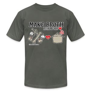 Make Broth: Real Food Love [Men's AA Tee] - Men's Fine Jersey T-Shirt