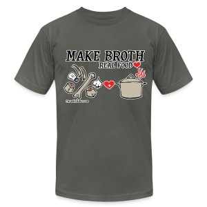 Make Broth: Real Food Love [Men's AA Tee] - Men's T-Shirt by American Apparel