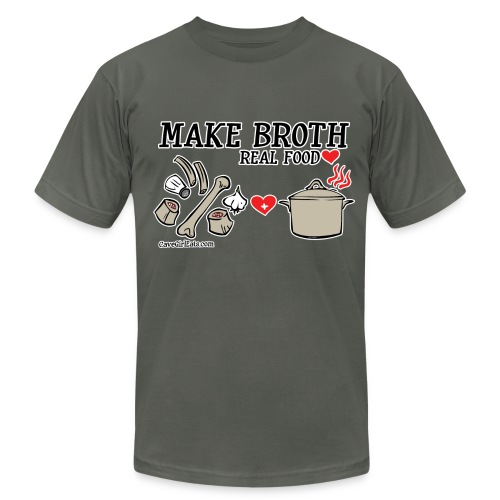 Make Broth: Real Food Love [Men's AA Tee] - Men's  Jersey T-Shirt