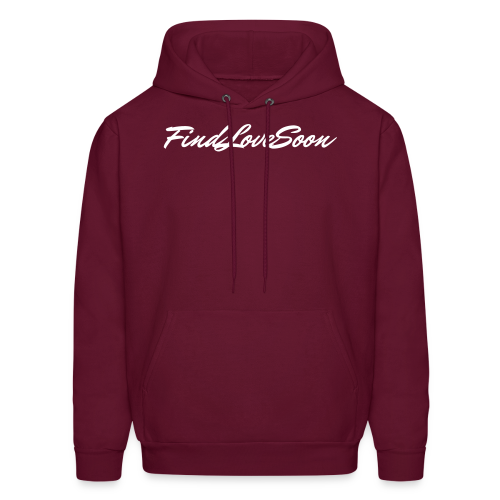 Men's FLS Script Burgundy Pullover - Men's Hoodie