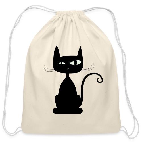 cat bag - Cotton Drawstring Bag