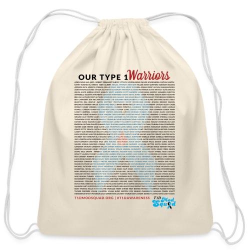Type 1 Warriors Drawstring bag - Cotton Drawstring Bag