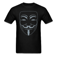 T-Shirts ~ Men's T-Shirt ~ Vendetta MASK in Metallic Silver -