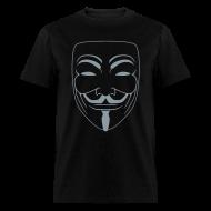 T-Shirts ~ Men's T-Shirt ~ Vendetta MASK in Metallic Silver -