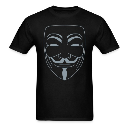 Vendetta MASK in Metallic Silver - Vi Veri Veniversum Vivus Vici T-Shirt - Men's T-Shirt