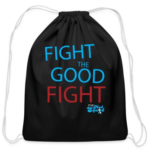 Fight the Good Fight Drawstring Bag - Cotton Drawstring Bag
