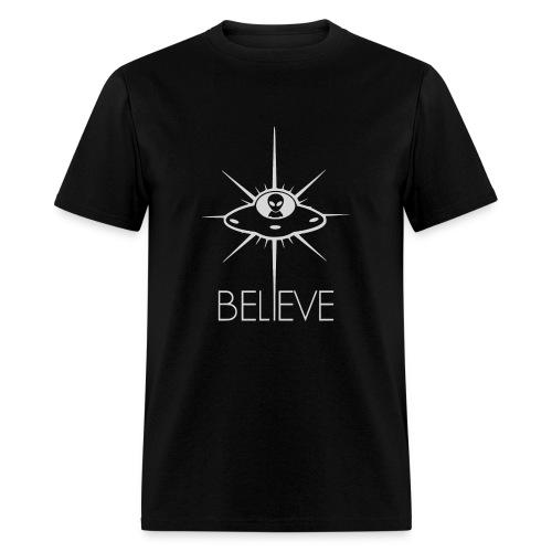 Space Alien UFO Believe - Men's T-Shirt