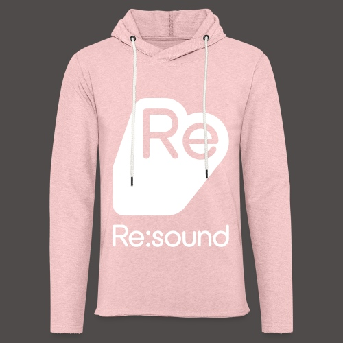 Re:Sound Music - Lightweight Hoodie - Grey / Pink - Unisex Lightweight Terry Hoodie
