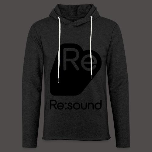 Re:Sound Music - Lightweight Hoodie - Grey / Black - Unisex Lightweight Terry Hoodie