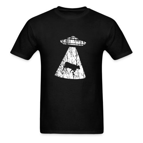 Ufo invasion kidnapping domestic cattle - Men's T-Shirt