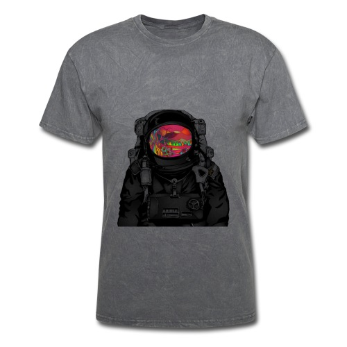 tripped out space man - Men's T-Shirt