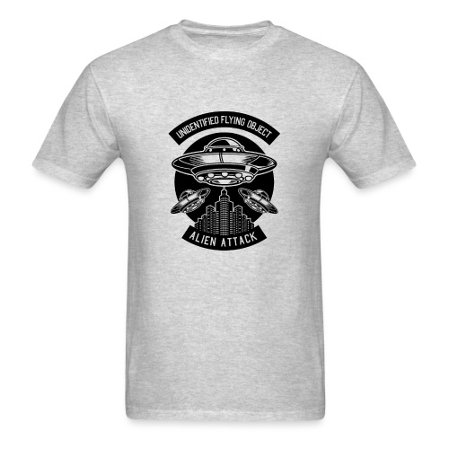 Alien UFO Attack - Men's T-Shirt