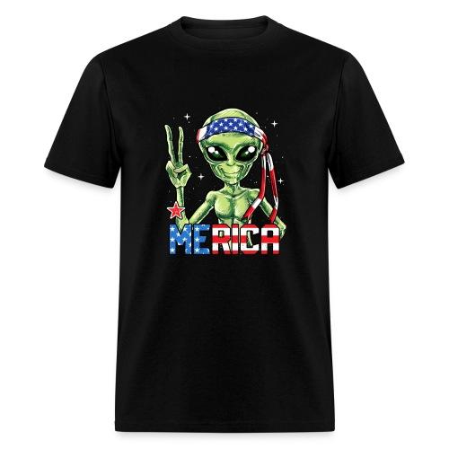 Alien Merica 4th of July - Men's T-Shirt