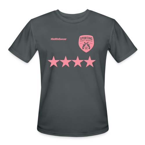 SFW All Star Tech Shirt (dark gray & pink) - Men's Moisture Wicking Performance T-Shirt