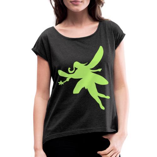 Green Fairy Scoop Neck T-Shirt - Women's Roll Cuff T-Shirt