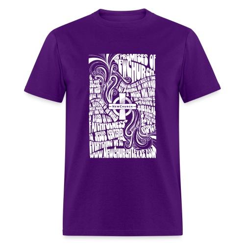Promises Retro (White Print) - Men's T-Shirt
