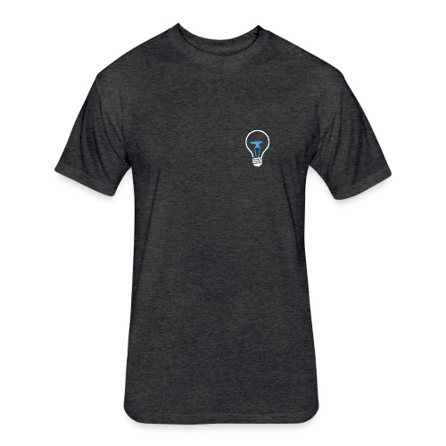 Teamsmith Bulb on Dark Gray - Fitted Cotton/Poly T-Shirt by Next Level