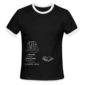 book - Men's Ringer T-Shirt