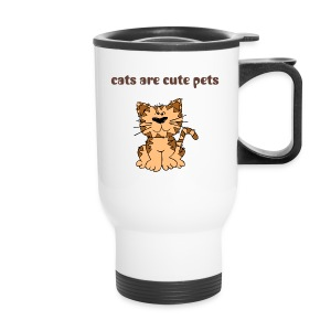 cats-cute pets - Travel Mug