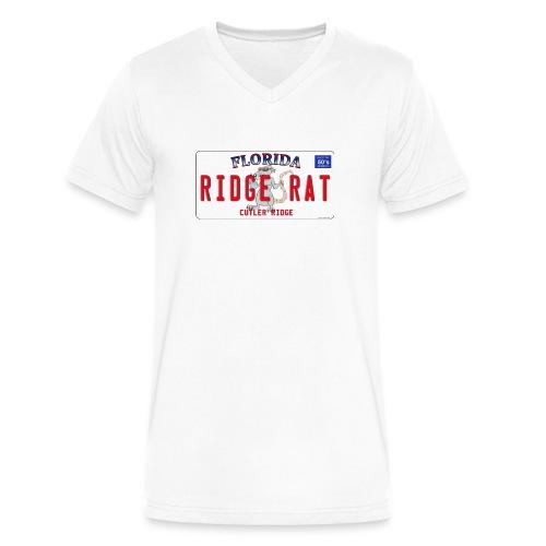 Dity Rat Plate - Mens V-Neck - Men's V-Neck T-Shirt by Canvas