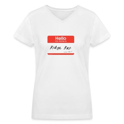 Hello - Womens V-Neck - Women's V-Neck T-Shirt