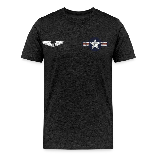 Custom USAF 1950s PinUP Girl T-Shirt Lucky Lady - Men's Premium T-Shirt