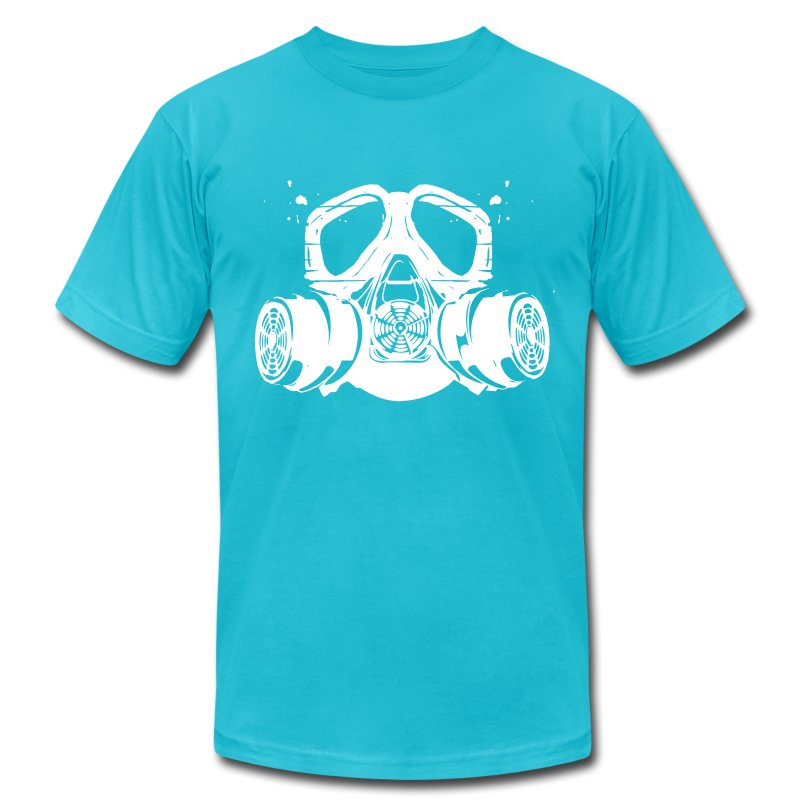 gas mask - Men's T-Shirt by American Apparel