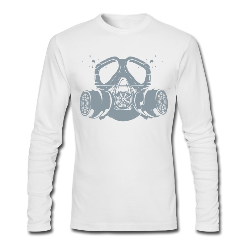 gas mask - Men's Long Sleeve T-Shirt by Next Level